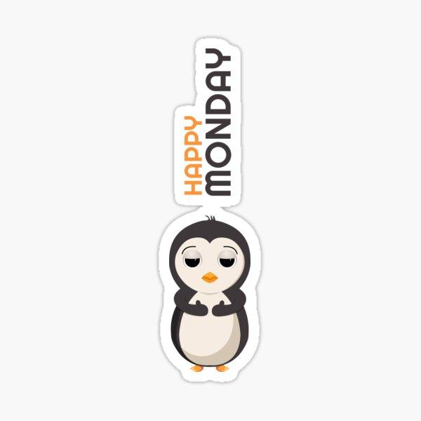 Pingouin - Bon lundi Sticker