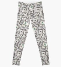 US $ 100 Bill Money Muster Leggings