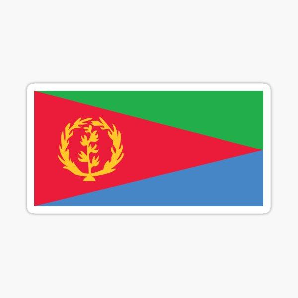 4 X ERITREAN FLAG VINYL CAR VAN IPAD LAPTOP STICKER