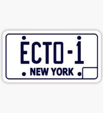 Ecto 1 Plate Sticker