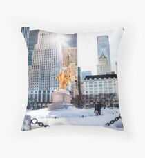 Grand Army Plaza, Central Park Throw Pillow