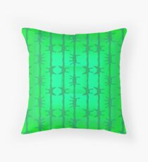 Green Cactus Spike Needles Desert Plants Botanical Cacti Color Botany Bright Throw Pillow