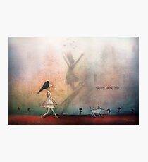 Happy being me Photographic Print