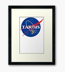 Tardis NASA T Shirt Parody Dr Dalek Who Doctor Space Time BBC Tenth Police Box Framed Print