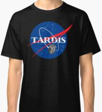 Tardis NASA T Shirt Parody Dr Dalek Who Doctor Space Time BBC Tenth Police Box Classic T-Shirt
