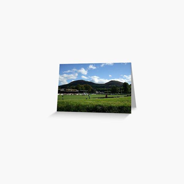 Eildon Hills behind the Greenyards, Melrose Greeting Card