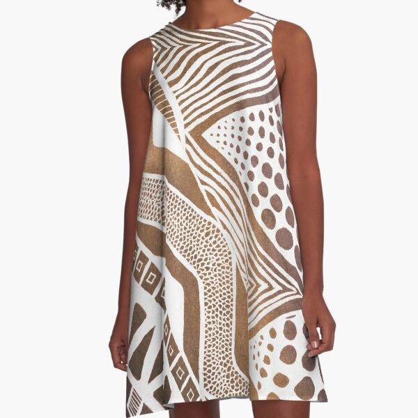 Rustic Tribal A-Line Dress