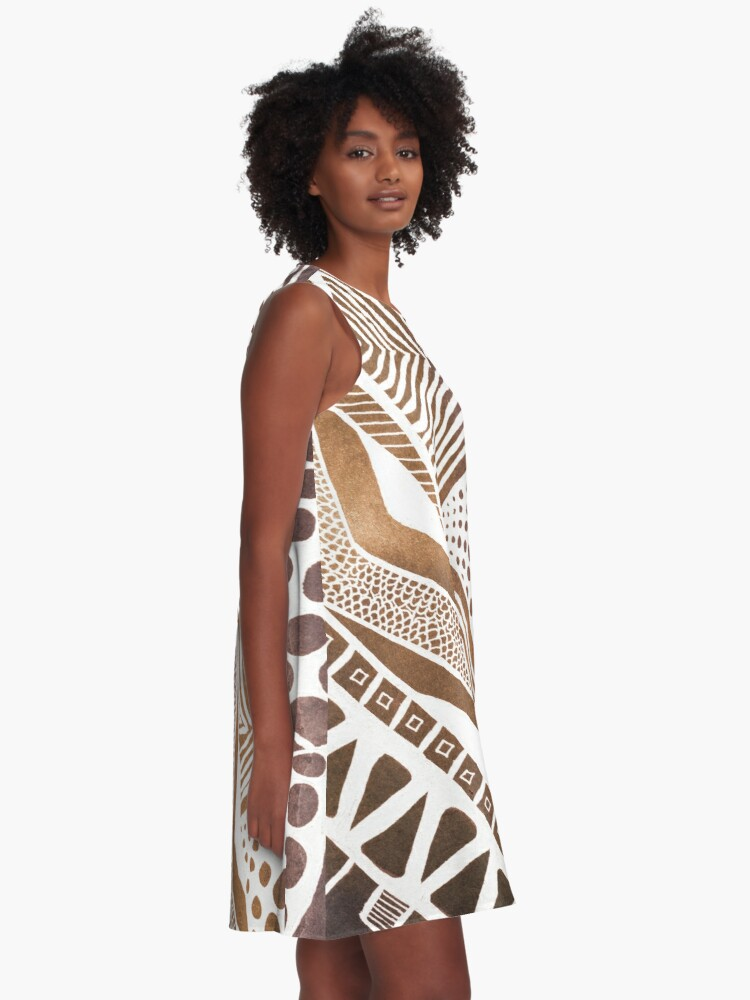 Alternate view of Rustic Tribal A-Line Dress