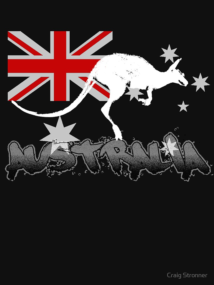 Australian Flag and Kangaroo by cstronner