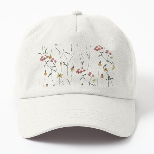 Antique Watercolor Flowers Dad Hat