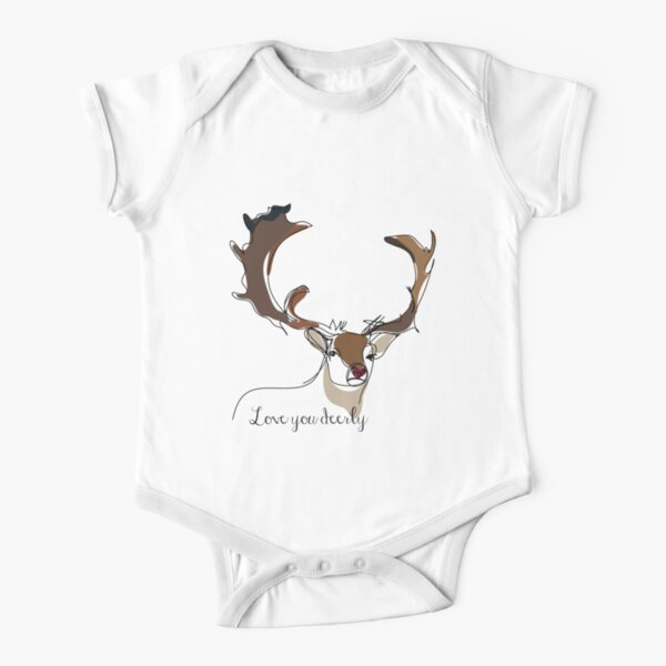 Deerly Short Sleeve Baby One-Piece