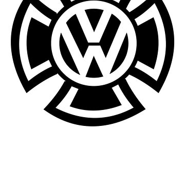 VW Iron Cross - Car T-shirt by beardburger
