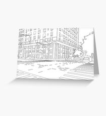 Street Corner Greeting Card