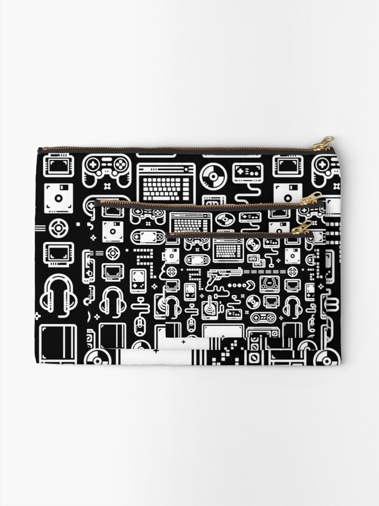 Alternate view of Retro Gamer Video Game Consoles, PC's, Controllers, Joysticks and Gamepads Zipper Pouch