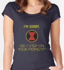 Did I Step On Your Moment? Women's Fitted Scoop T-Shirt
