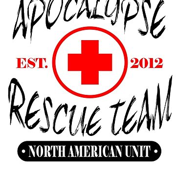 Zombie Apocalypse Rescue Team T-Shirt The Walking Zombies TEE Funny Dead est by beardburger