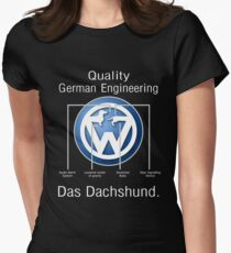 Quality German Engineering Das Dachshund - Doxie T-Shirt Womens Fitted T-Shirt