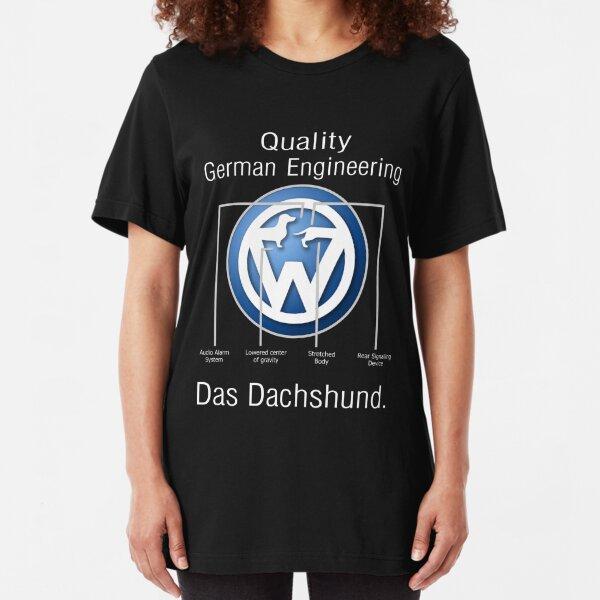 Quality German Engineering Das Dachshund - Doxie T-Shirt Slim Fit T-Shirt