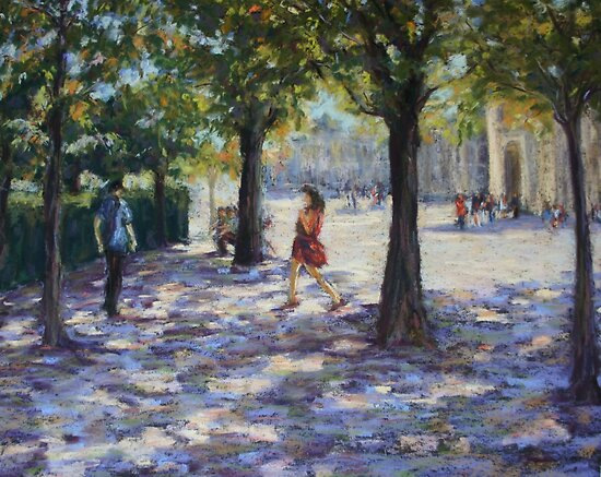 Walking near the Louvre, Paris by Terri Maddock