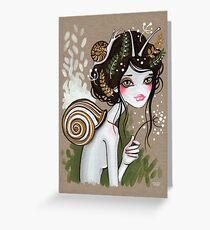 Snail Girl Greeting Card