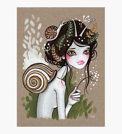 Snail Girl Photographic Print