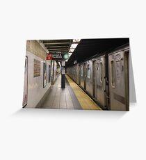 Subway 86th St Greeting Card