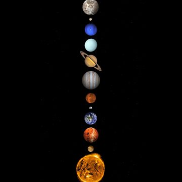 Solar System space astronomy fashion retro planets cool by Salawasnalancar