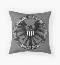 Vintage Stlye S.H.I.E.L.D  Throw Pillow