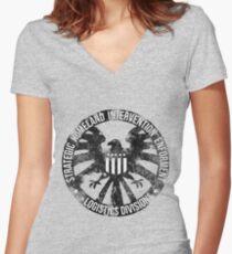 Vintage Stlye S.H.I.E.L.D  Women's Fitted V-Neck T-Shirt