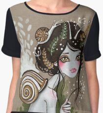 Snail Girl Women's Chiffon Top