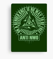 Anti NWO Canvas Print