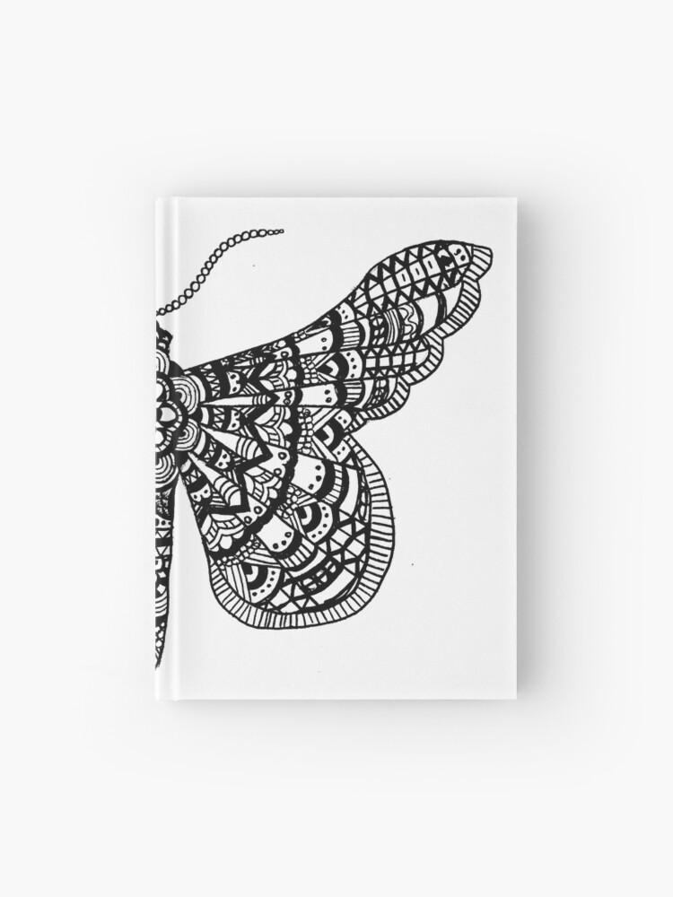 Carnet Cartonne Mandala Papillon Par Bellalolite Redbubble