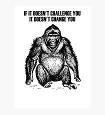 Ape sitting Photographic Print