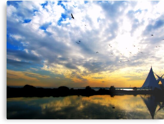 Maihama Sunset by kibishipaul