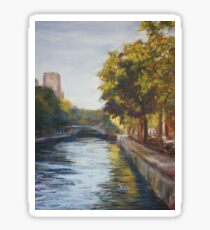 Canal St Martin, Paris - pastel Sticker