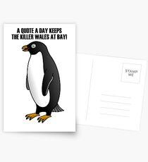 Penguin family Postcards