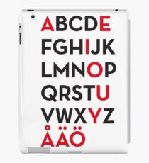 Swedish alphabet iPad Case/Skin
