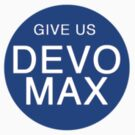 Give Us Devo Max Sticker by Fiona Boyle
