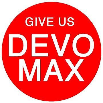 Give Us Devo Max Red Sticker by xfifix