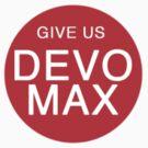 Give Us Devo Max Red Sticker by Fiona Boyle