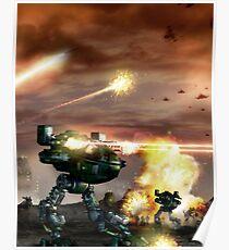 Mech Battle Poster