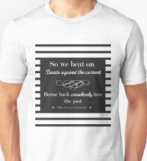 So we beat on - classic stripes Unisex T-Shirt
