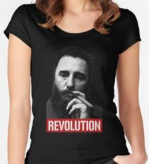 Fidel Castro -Che- Women's Fitted Scoop T-Shirt