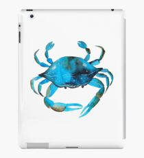 Crab Watercolor, Blue Crab Graphic iPad Case/Skin