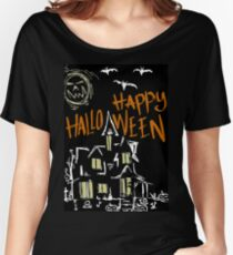 Halloween house Women's Relaxed Fit T-Shirt