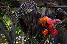 Jesus In Wire And Flowers -01 by Larry Costales