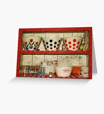 kitchen collectibles Greeting Card