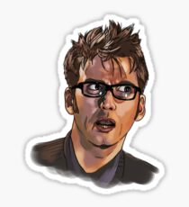 David Tennant - Sketchy Portrait 1 Sticker