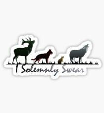 """I Solemnly Swear"" Colour Sticker"