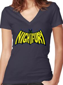Na Na Na Na Nightfury Women's Fitted V-Neck T-Shirt